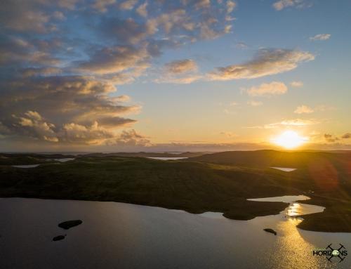 Sunset in Shetland